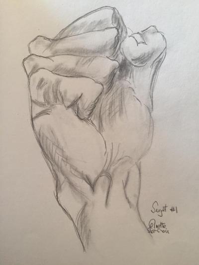 1- Croquis main réduit