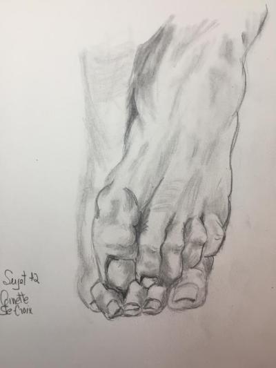 2- Croquis pieds réduit